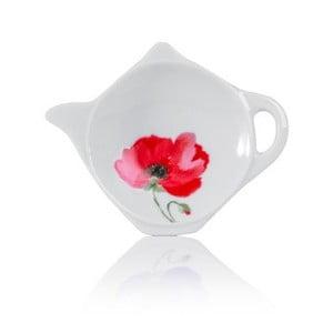 Bol din porțelan pentru plicul de ceai Sabichi Poppy