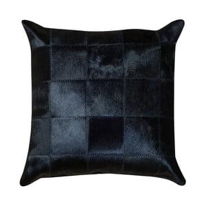 Černý kožený polštář Pipsa Pennio, 50x50cm