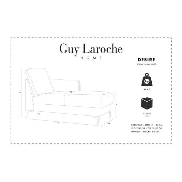 Krémová lenoška Guy Laroche Home Desire,pravý roh