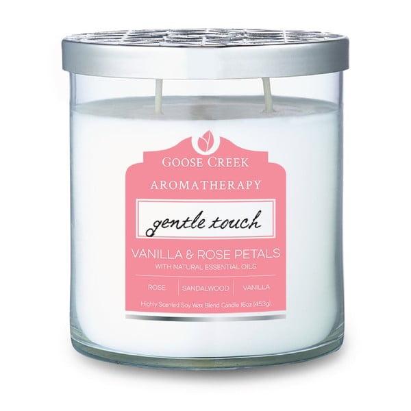 Świeczka zapachowa w szklanym pojemniku Goose Creek Vanilla & Rose Petals, 60 godz. palenia