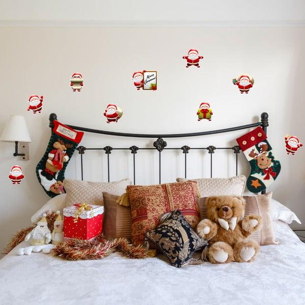 Set 9 autocolante Crăciun Ambiance Funny Santa Claus