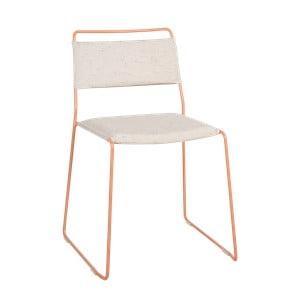 Bílá židle se žlutou konstrukcí OK Design One Wire