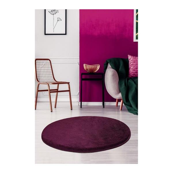 Ciemnofioletowy dywan Milano, ⌀ 90 cm
