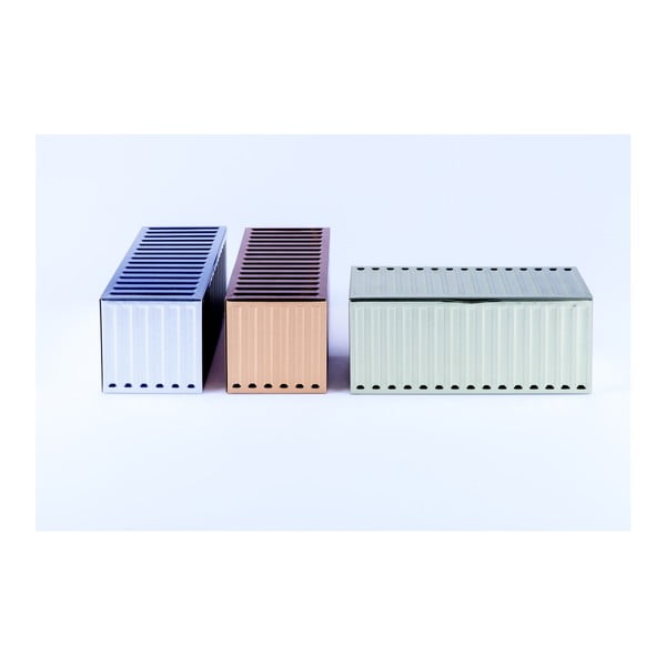Sada 3 úložných kontejnerů DOIY Metal Series