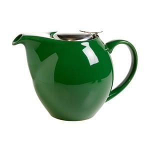 Tmavě zelená kameninová konvice se sítkem na čaj Maxwell&Williams Infusion T, 1l