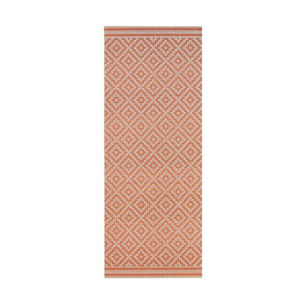Koberec vhodný i na ven Raute 80x150 cm, korálový