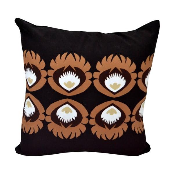 Polštář s náplní Black Flowery, 50x50 cm