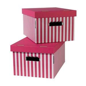 Set 2 cutii pentru depozitare Compactor, roz