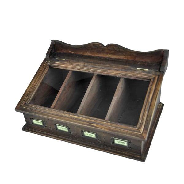 Suport lemn pentru tacâmuri Antic Line Couverts