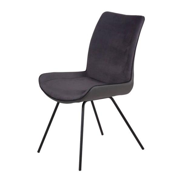 Set 2 scaune Sømcasa Norma, gri închis