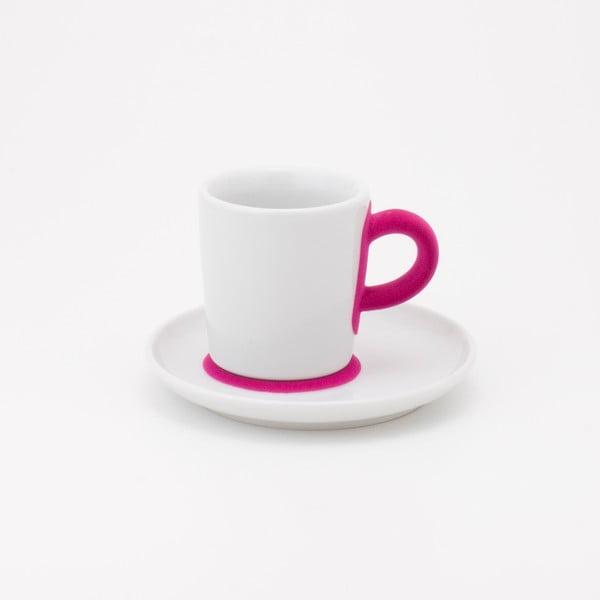 Šálek na espresso s podšálkem Touch! Five Senses, magenta