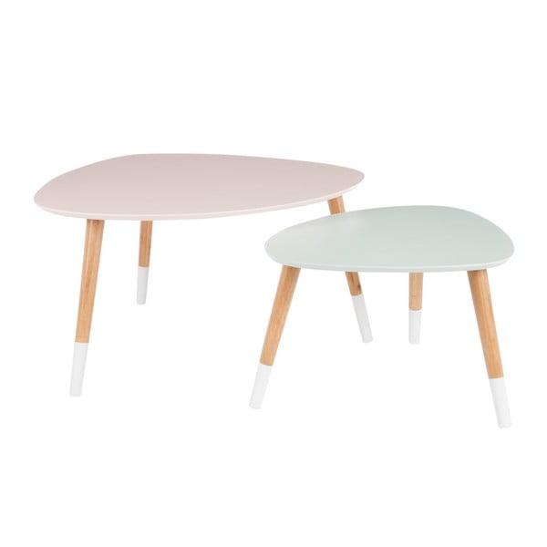 Sada 2 odkládacích stolků Vintage Table, 80x68 cm/60x50 cm