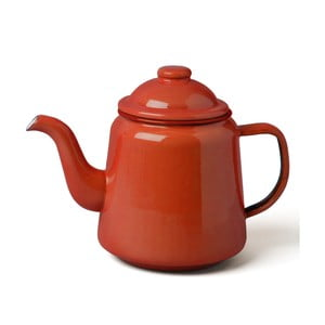 Červená smaltovaná čajová konvička Falcon Enamelware,1l