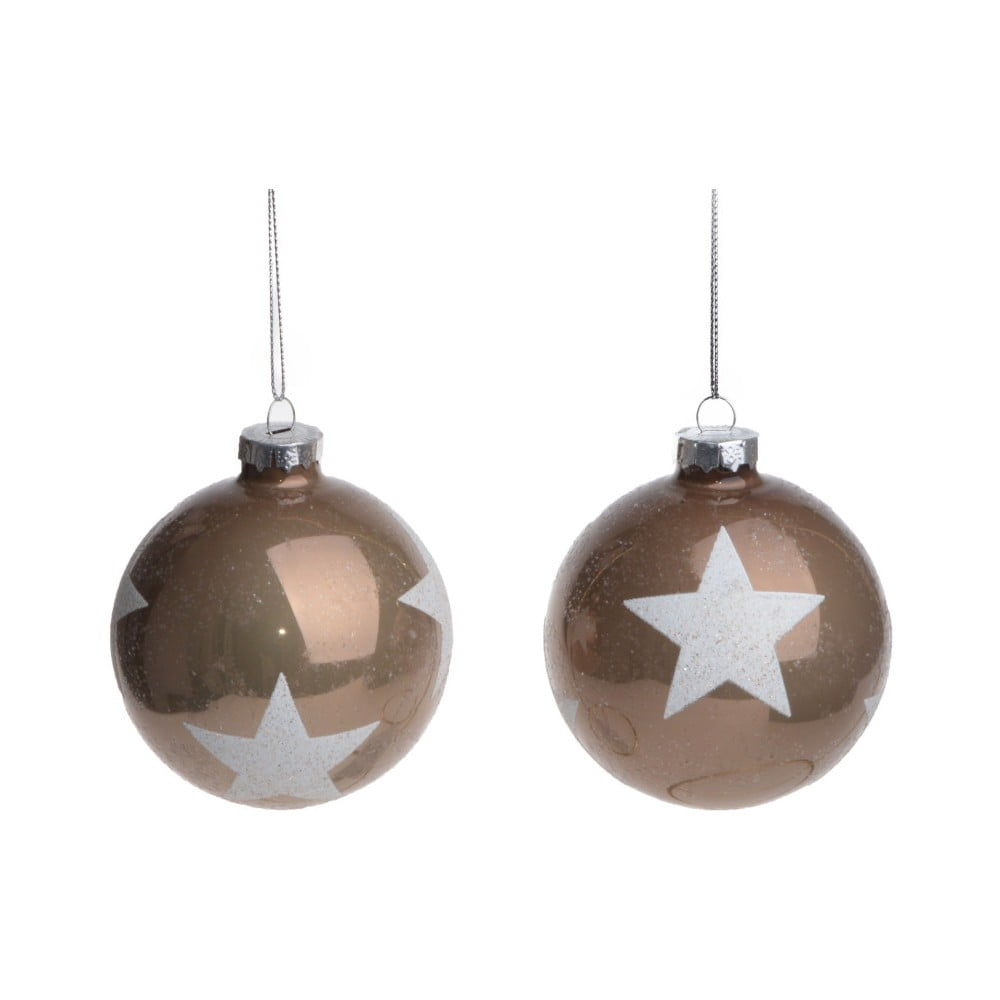 Sada 2 závěsných dekorací Ewax Stars