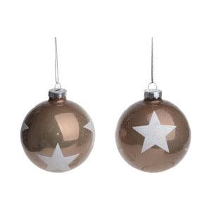 Set 2 globulețe decorative Ewax Stars
