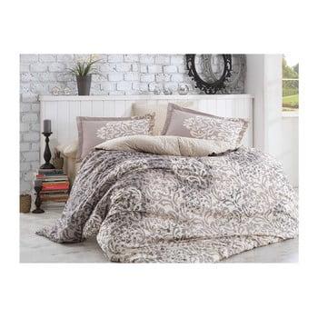 Lenjerie de pat cu cearșaf din bumbac poplin Serenity Rey,200x220cm de la Hobby