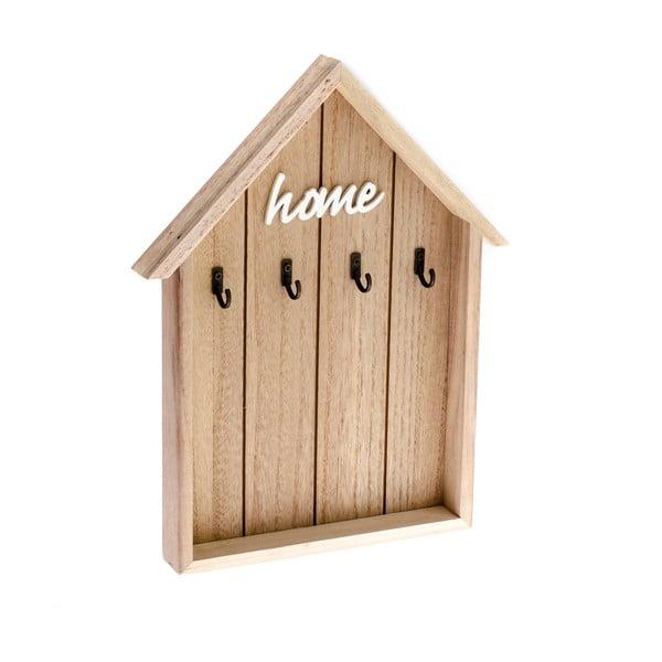 Házikó alakú fa fali kulcstartó - Dakls