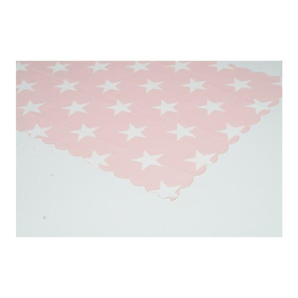 Běhoun na stůl z mikrovlákna Minimalist Cushion Covers Pink Stars, 45x145cm