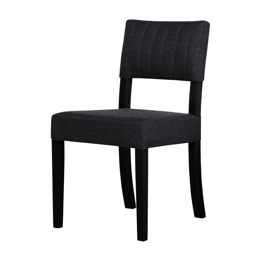 Černá židle s černými nohami Ted Lapidus Maison Néroli