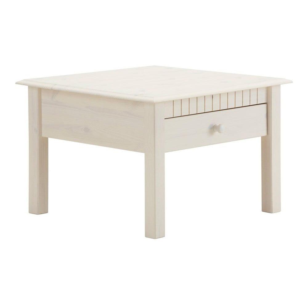Bílý konferenční stolek z masivního borovicového dřeva Støraa Linda