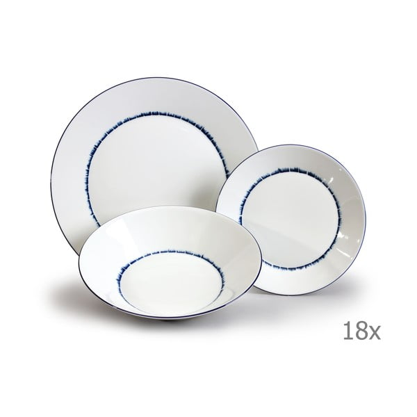 Sada 18 porcelánových talířů Thun Tom