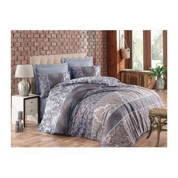Lenjerie de pat din bumbac cu cearșaf și fețe de pernă Alberta, 200 x 220 cm de la Cotton Box
