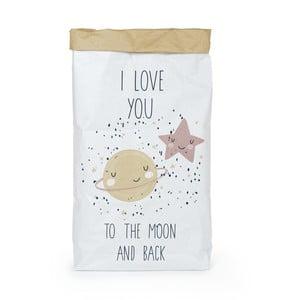 Pungă din hârtie reciclată Tanuki Love You To The Moon