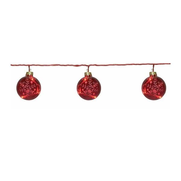 Svítící řetěz Best Season Glass Beads Red