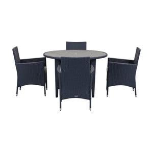 Tmavě modrý set venkovního nábytku Safavieh Malaga