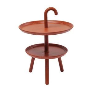 Oranžový odkládací stolek Kare Design Jacky, ⌀42cm