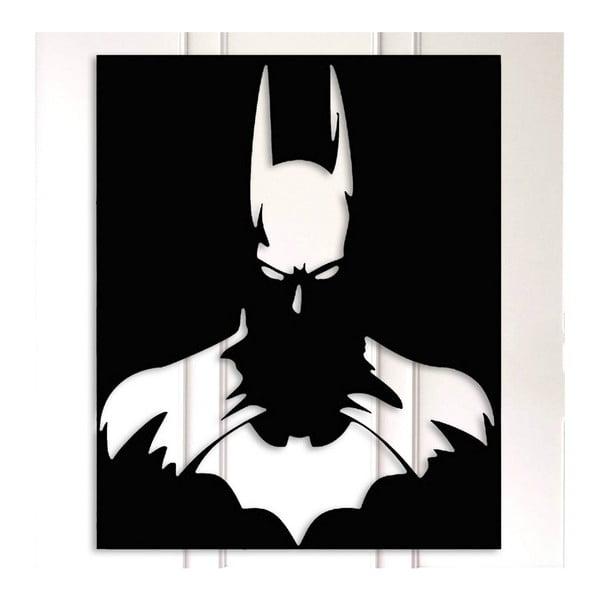 Černá kovová nástěnná dekorace Batman