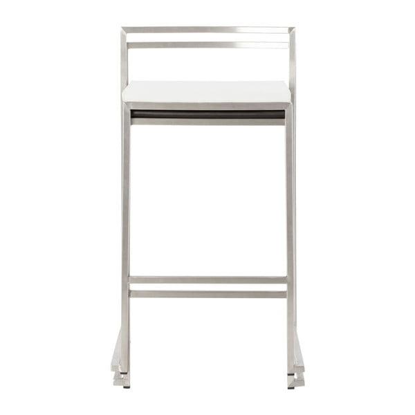 Barová židle s bílým sedákem Kokoon Meto, výškasedu65cm
