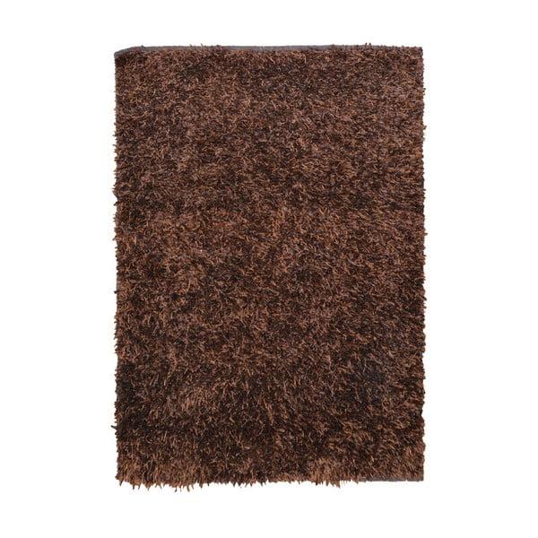 Hnědý koberec Webtappeti Shaggy, 60x100cm