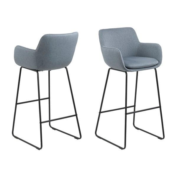 Sada 2 modrých barových židlí Actona Lisa
