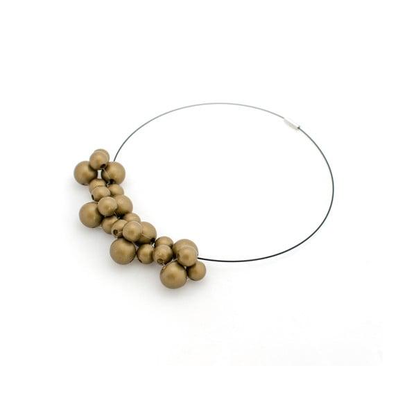 Zlatý dřevěný náhrdelník Ko–ra–le Bubbles