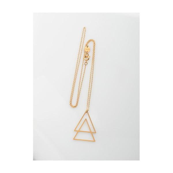 Náhrdelník Triangles Gold z kolekce Geometry