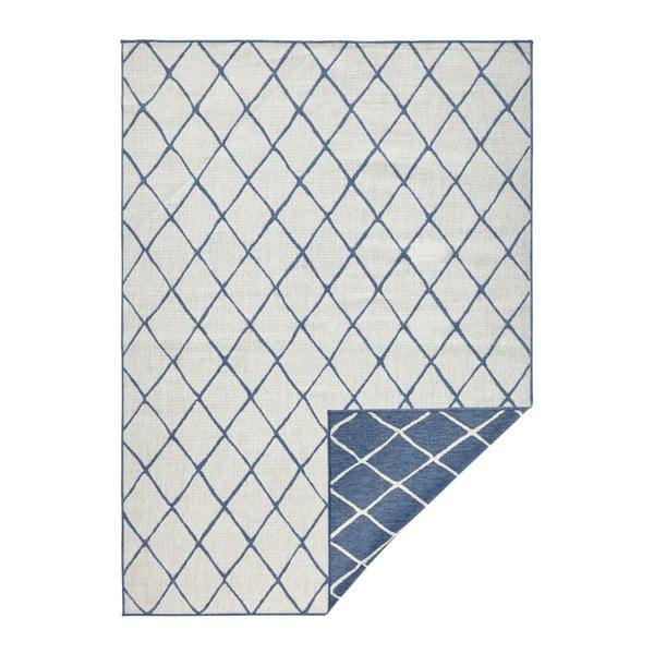 Modro-krémový venkovní koberec Bougari Malaga, 200x290 cm