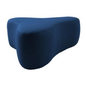Tmavě modrý puf Softline Chat Felt Melange Dark Blue, délka 90 cm