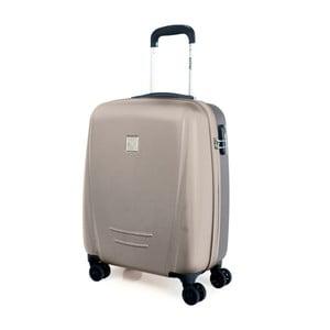 Béžový cestovní kufr na kolečkách Arsamar Martinéz,výška55cm
