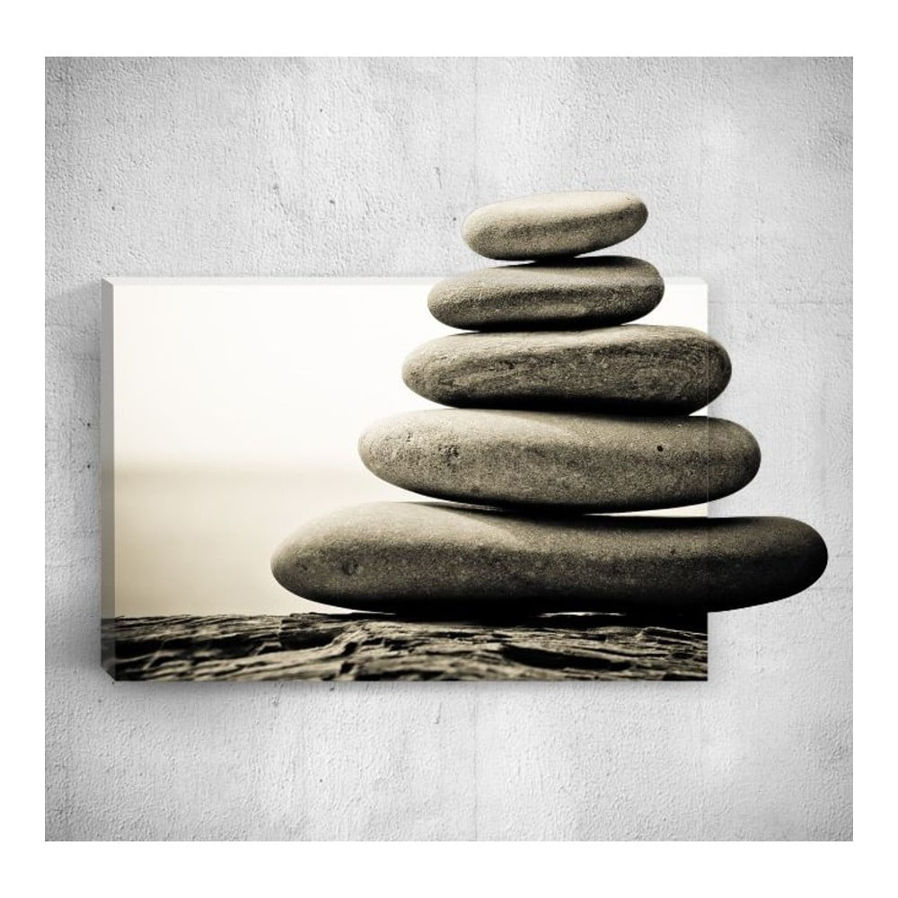 Nástěnný 3D obraz Mosticx Pebble Tower 40 x 60 cm