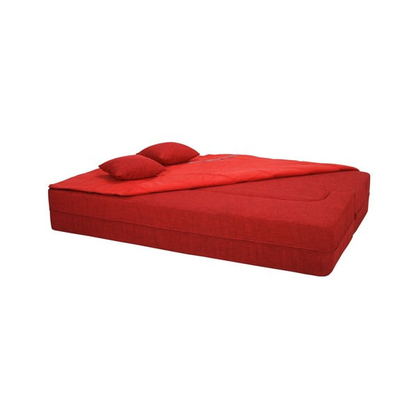 Rozkládací pohovka Tiramisu, črvená