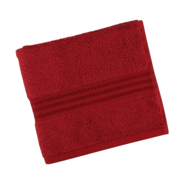 Czerwony bawełniany ręcznik Rainbow Red, 30x50 cm