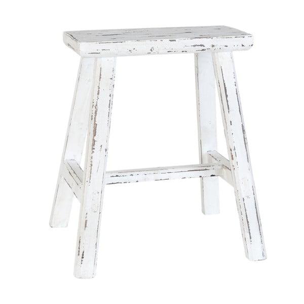 Bílá dřevěná stolička Clayre & Eef