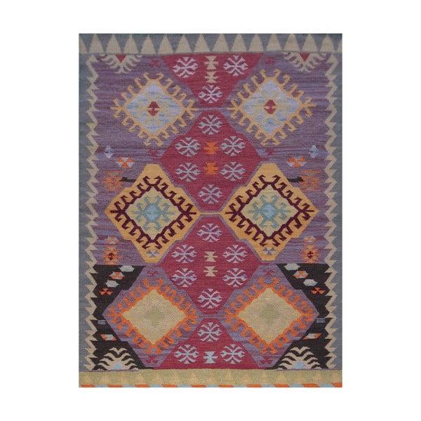 Vlněný koberec Kilim No. 200, 120x180 cm