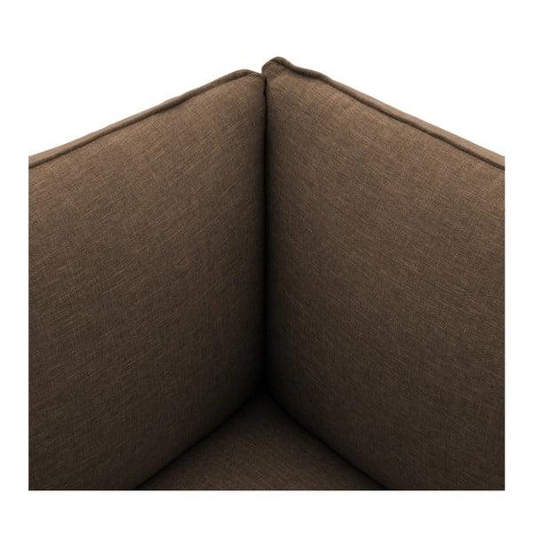 Tmavě béžová dvoumístná modulová pohovka Vivonita Cube