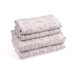 Set 2 bavlněných ručníků a 2 osušek Casa Di Bassi Gtypo