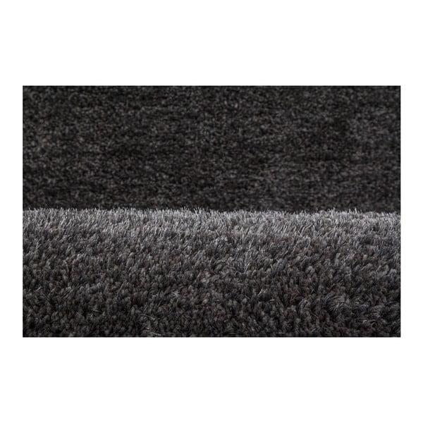 Tmavě šedý ručně vyráběný koberec Obsession My Touch Me Stone, 40 x 60 cm