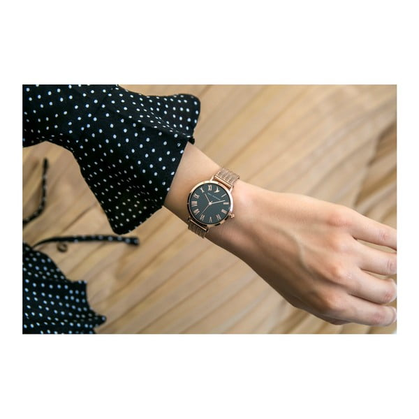 Dámské hodinky s páskem z nerezové oceli v růžovozlaté barvě Emily Westwood Lumia