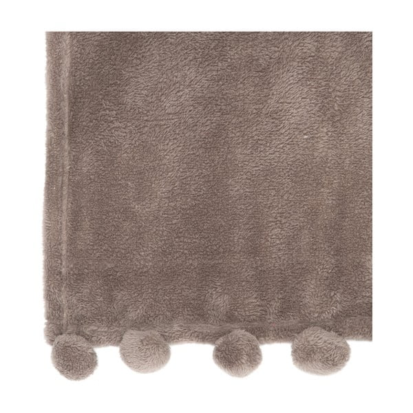 Pléd PomPom 127x152 cm, hnědý