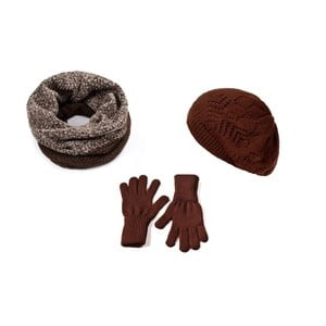 Set căciulă, șal, mănuși, Frederika